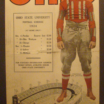 1924 Ohio State Buckeyes poster