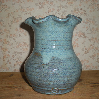 Signed author ceramic vase 1985.