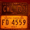 Old S. Carolina Car Tag's 67 & 72~~Bicentennial Tag's