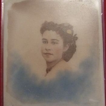 Ambrotype of a woman