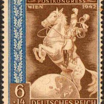 "1942 - Germany - ""Postal Congress"" Stamp"