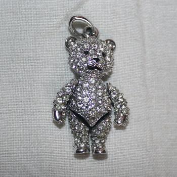 Classic Swarovski Crystal Teddy Bear Pendant