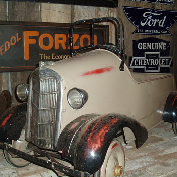 My  Ford pedal car.