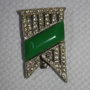 Art Deco Fur Clip