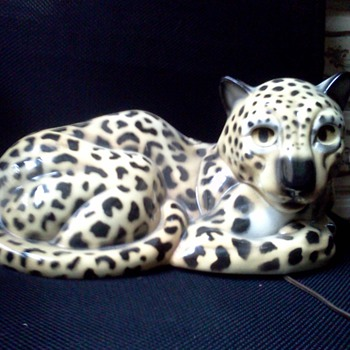 claes leopard t.v. lamp