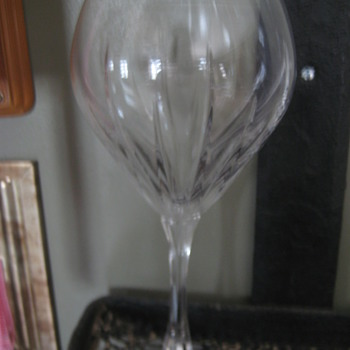Crystal Wine Glass -Mystery?? - Glassware