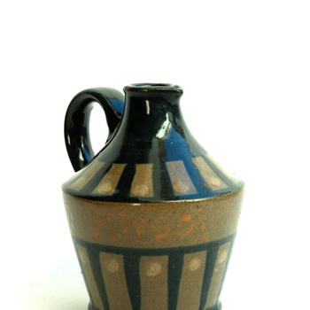 "art deco jug for alsacian cherry liquor ""KIRSCH"" by LEON ELCHINGER"