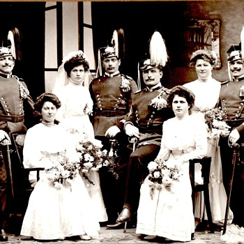Württemberg uhlans and their ladies - Photographs