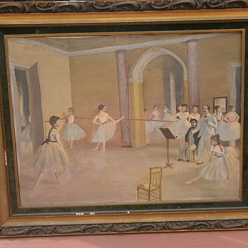 Old painting.... Degas original? - Victorian Era