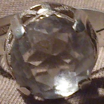 Rockcrystal silver ring