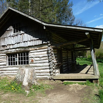 Old log Cabin . Still in use  - Photographs