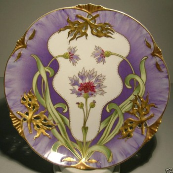 Nymphenburg Art Nouveau Plate - Art Pottery