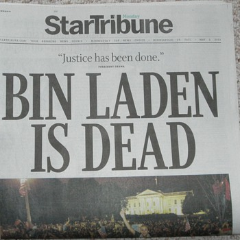 BIN LADEN IS DEAD - Military and Wartime