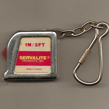 Servalite Keychain 3' Tape Measure