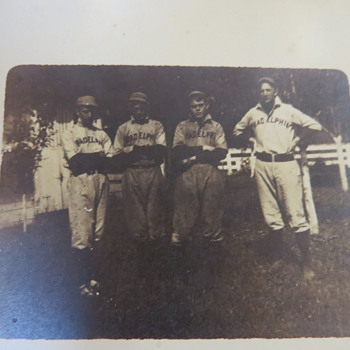 Philadelphia ? Baseball photo postcard - seeking info on age, etc.