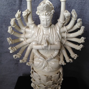 Multi-armed Blanc de Chine figurine
