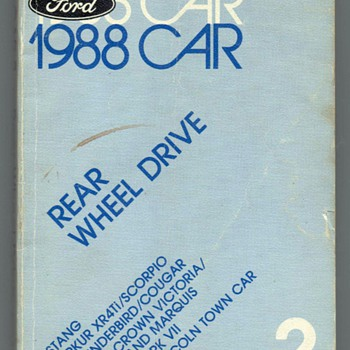 1988 Ford Car Specification Book