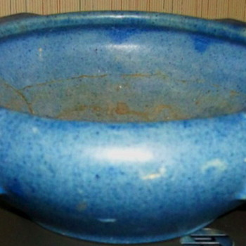 Unmarked--Do you recognize this Arts & Crafts Style stoneware Bowl? Possibly Peters & Reed? Marblehead? Rookwood? Teco?