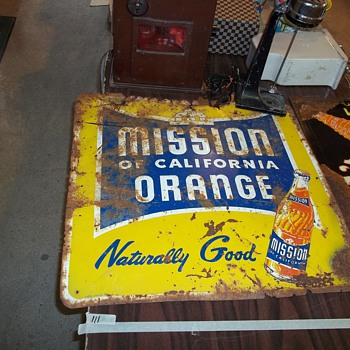 ORANGE SODA SIGN - Signs