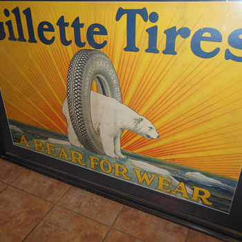 Gillette  tire - Signs