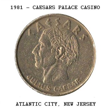 Caesars Palace Casino - $1 Gaming Token - Games