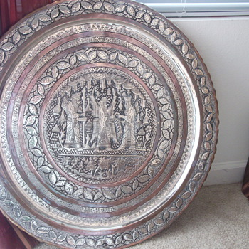 Large &quot;Persian?&quot; metal wall hanging - Art Deco