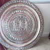 "Large ""Persian?"" metal wall hanging"