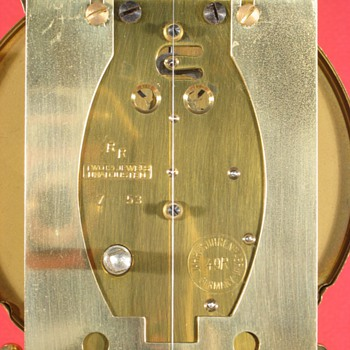 Schatz Narrow-Plate Standard 400 Day Clock, 1953