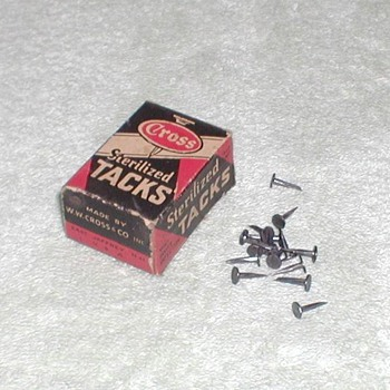 Cross Sterilized Carpet Tacks - Advertising