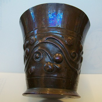 Copper Beaker made by Keswick School of Industrail Art (uk) 1900