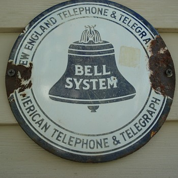 New England Tel & Tel Round Hub Cap - Advertising