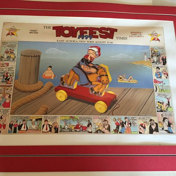 King features syndicate TOYFEST Poster, 13th annual,  signed limited Edition