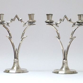 Pair of candlesticks - Art Deco