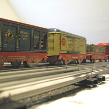 Marx 1938 all original Commodore Vanderbilt freight set! - Model Trains