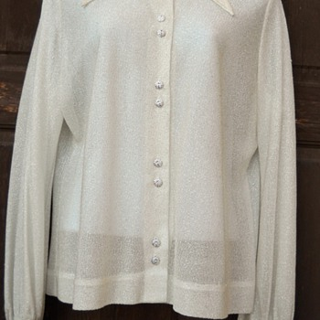 Elsie Whiteley Sheer Silver Metallic Shirt