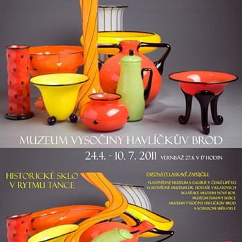 TANGO SKLO - Beautiful Posters for Beautiful Czech Glass Exhibits 2011-2012 Czech Republic