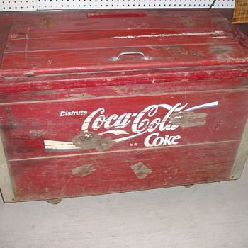 Coca-Cola Coke Chest WOODEN - Coca-Cola