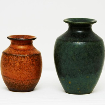 Vases from Holbaek Pottery (Denmark), 1930's-1940's - Art Pottery