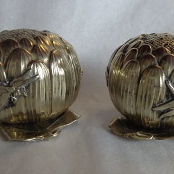 Insect Pepper Shaker Pots Japan  - Victorian Era