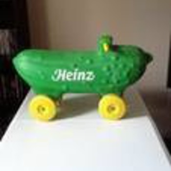 Vintage Heinz Pickle Riding Toy - Advertising