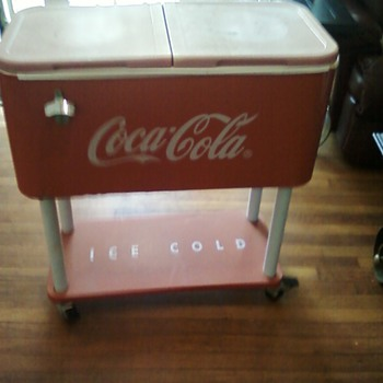 Coke cooler on wheels - Coca-Cola