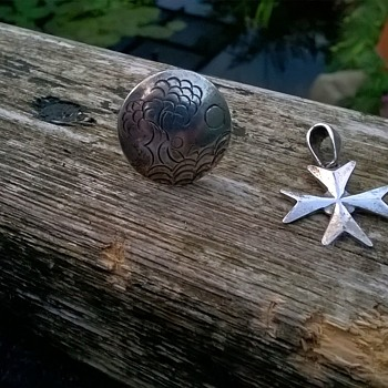 Sterling Ring & Maltese Cross Pendant Thrift Shop Finds $5.00