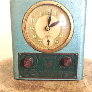 Coin Operated Motel Alarm Clock with Art Deco Design - Clocks