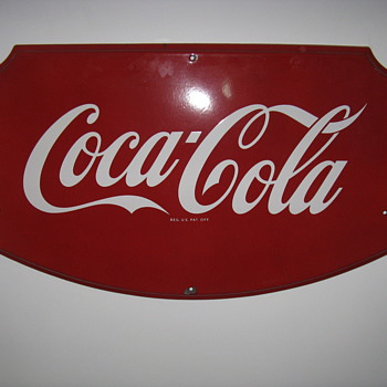 "porcelain Coca Cola sign 36"" x 23"""