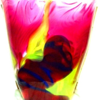 John Cook Studio Art Glass Vase - Art Glass