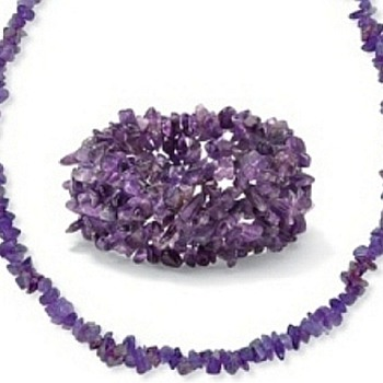 Genuine Amethyst Polished & Faceted Stones Jewelry - Costume Jewelry