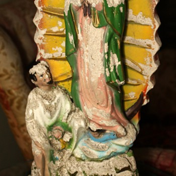 Chalkware Virgenes de Guadalupe - Folk Art