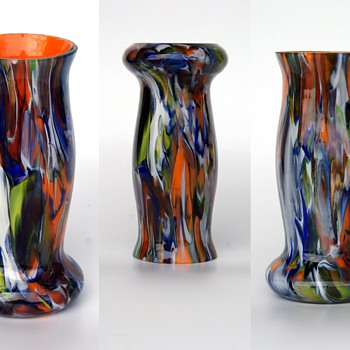 Kralik? cased confetti vase - Art Glass