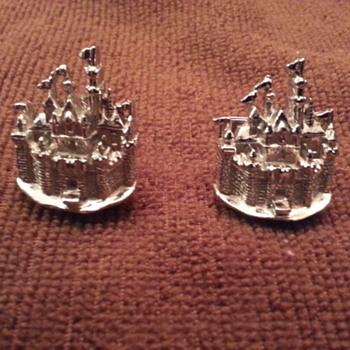 Cinderella Castle Cufflinks, Vintage 1950s?