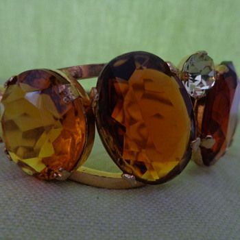 Clamper Bracelet with Large Glass Stones